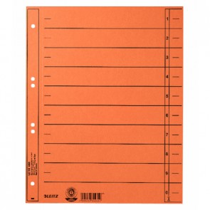 LEITZ Trennblätter 1658 A4 230g Manilakarton orange