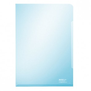 LEITZ Sichthüllen 4153 A4 PVC 0,15mm glasklar blau
