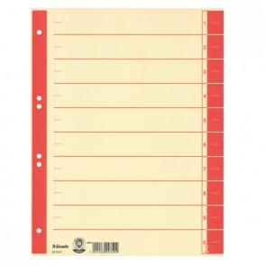 ESSELTE Trennblatt A4 Karton Tab rot