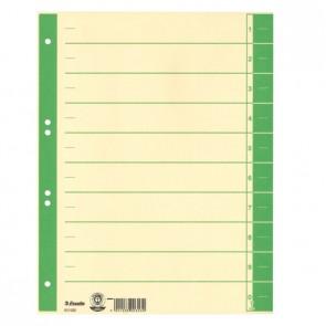 ESSELTE Trennblätter 621018 A4 chamois Tab grün 230g 100 Stück