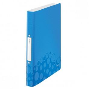 LEITZ Ringbuch WOW 4257 A4 PP 25mm 2-Ring blau metallic
