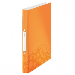 LEITZ Ringbuch WOW 4257 A4 PP 25mm 2-Ring orange metallic