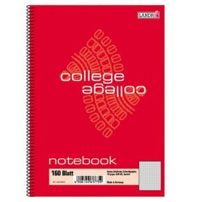 Notebook College A5 160Bl kariert mit Spirale 70g ECF
