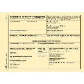 RNK Fremdenmeldblock A6 Bayern / NRW