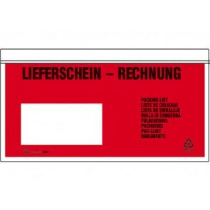 UNIPACK Begleitpapiertaschen DL Lieferschein/Rechnung 250 Stück
