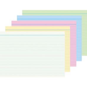 RNK Karteikarten A8 liniert farblich sortiert 100 Stück