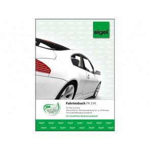 SIGEL Fahrtenbuch FA514 A5 32 Blatt f. PKW und LKW