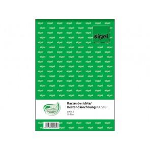 Kassenbericht A5 50Bl Bestandsrechnung