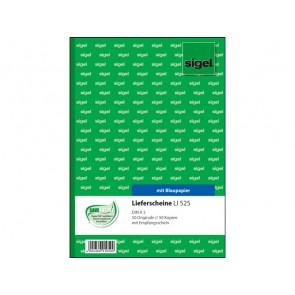 SIGEL Lieferscheinbuch LI 525 A5 2 x 50 Blatt mit Blaupapier