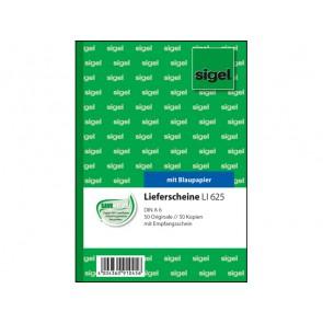 SIGEL Lieferscheinbuch LI625 A6 2 x 50 Blatt mit Blaupapier