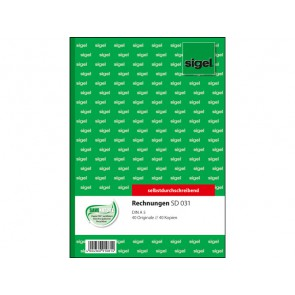 SIGEL Rechnung SD031 A5 2 x 40 Blatt selbstdurchschreibend