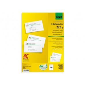 Visitenkarte 3C 85x55mm (A4) 225g 100St glatter Schnitt rundum I/L/C
