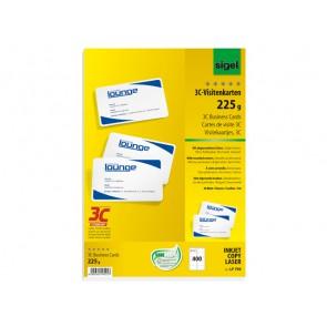 Visitenkarte 3C 85x55mm (A4) 225g 400St mit abgerundeten Ecken I/L/C