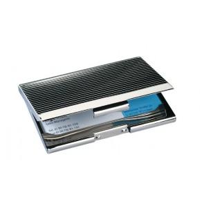 SIGEL Visitenkartenetui VZ 130 aus Chrom für 20 Karten bis Größe 91x56mm