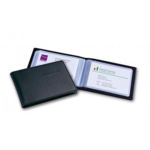 Kartenmappe schwarz für 40 Karten bis Größe 90x58mm