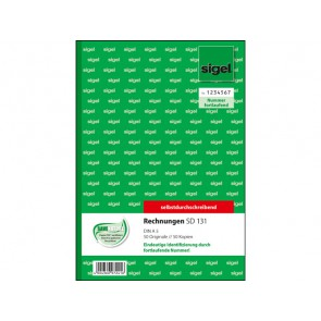 SIGEL Rechnung SD131 A5 2 x 40 Blatt selbstdurchschreibend mit fortlaufender Nummerierung