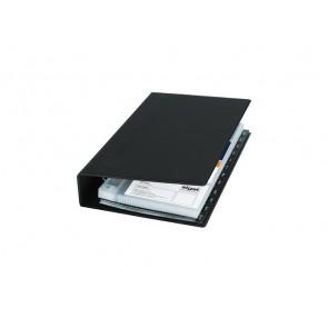 SIGEL Visitenkarten-Ringbuch schwarz 1-reihig f. 200 Karten